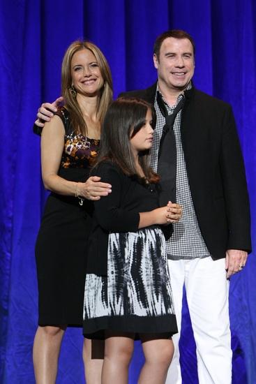 Kelly Preston, Ella Bleu Travolta and John Travolta