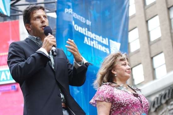 Tim Tompkins, president of The Times Square Alliance and Charlotte St. Martin, Executive Director of The Broadway League