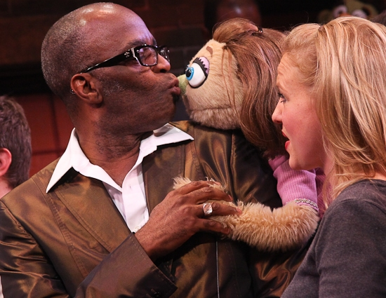 Choreographer Ken Roberson kisses Lucy goodbye...but only for now... Photo