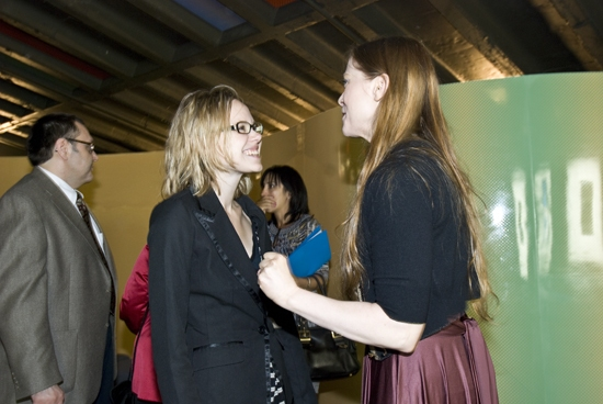 Erin Hill with friend Alison Pill