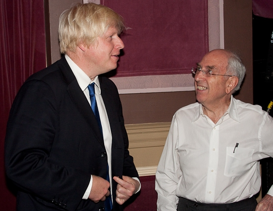 Boris Johnson and Aubrey Reuben