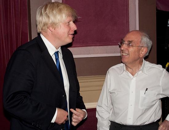 Boris Johnson and Aubrey Reuben Photo