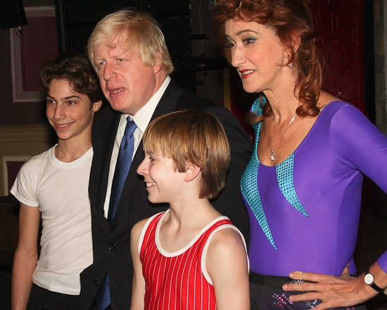 Kiril Kulish, Boris Johnson, Tommy Batchelor and Haydn Gwynne