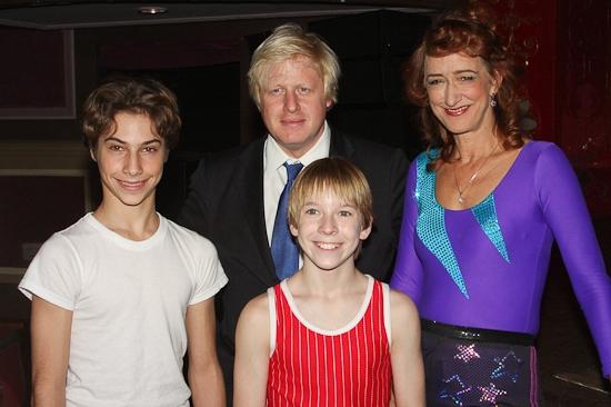 Kiril Kulish, Boris Johnson, Tommy Batchelor and Haydn Gwynne