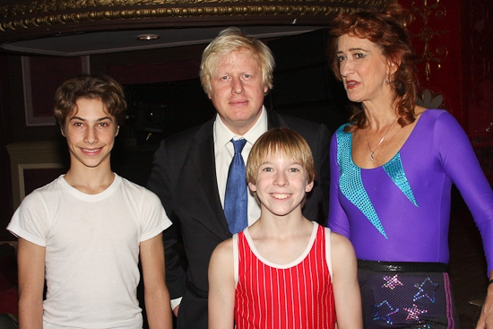 Photo Coverage: Mayor of London Boris Johnson Visits Broadway's BILLY ELLIOT!