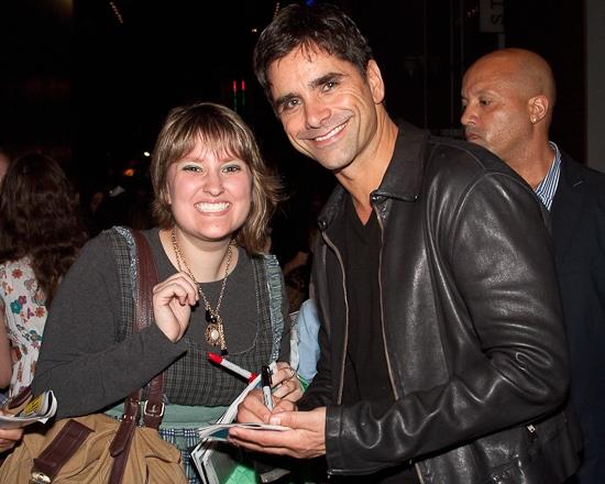 Taylor Kurpial and John Stamos