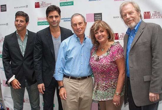 Tim Tompkins, John Stamos, Mayor Michael Bloomberg, Charlotte St. Martin and Michael McKean