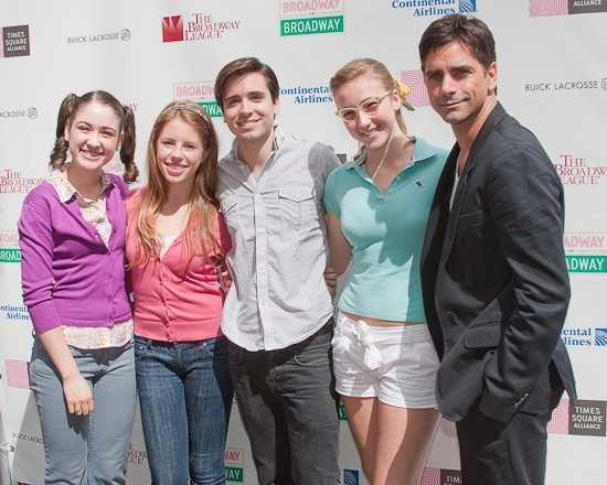 Allison Strong, Allie Trimm, Matt Doyle, Julia Knitel and John Stamos