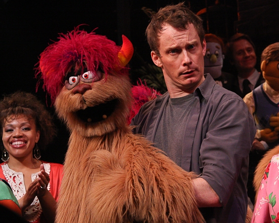 Carmen Ruby Floyd and Christian Anderson at AVENUE Q's Final Curtain Call On Broadway