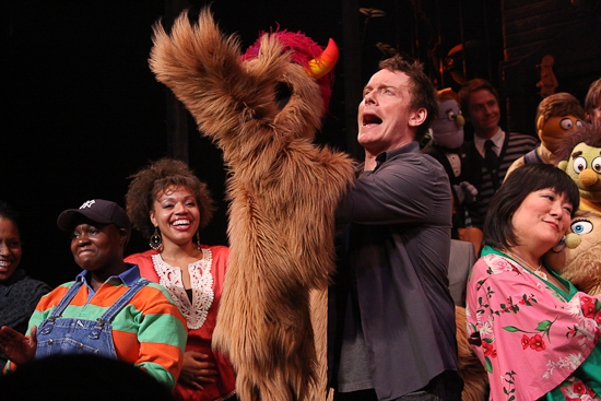 Danielle K. Thomas, Carmen Ruby Floyd, Christian Anderson and Ann Harada at AVENUE Q's Final Curtain Call On Broadway