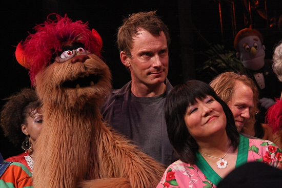 Christian Anderson and Ann Harada at AVENUE Q's Final Curtain Call On Broadway