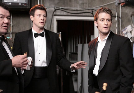Patrick Gallagher, Cory Monteith and Matthew Morrison