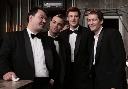 Patrick Gallagher, Mark Salling, Cory Monteith and Matthew Morrison