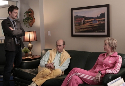 Matthew Morrison, Stephen Tobolowsky and Jane Lynch