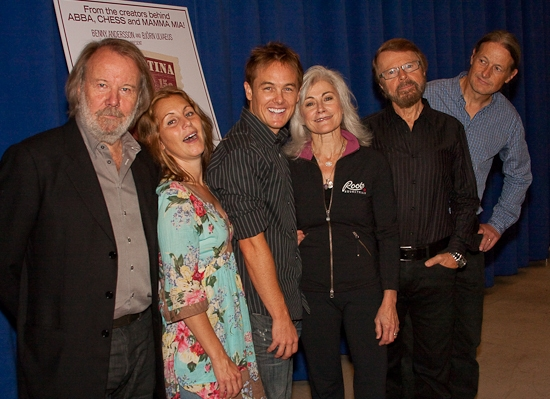 Benny Andersson, Helen Sjoholm, Kevin Odekirk, Louise Pitre, Bjorn Ulvaeus, and Lars Rudolfsson at Andersson And Ulvaeus' KRISTINA Concert Cast And Creative Team Meet The Press