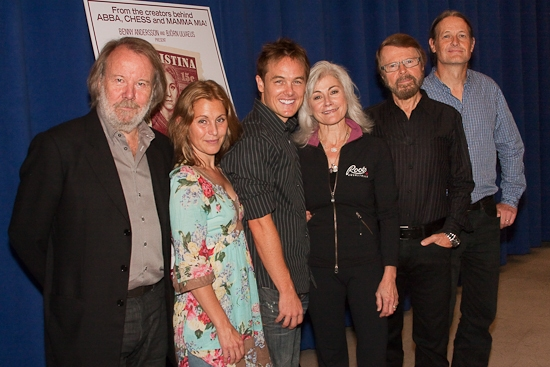 Benny Andersson, Helen Sjoholm, Kevin Odekirk, Louise Pitre, Bjorn Ulvaeus, and Lars Rudolfsson