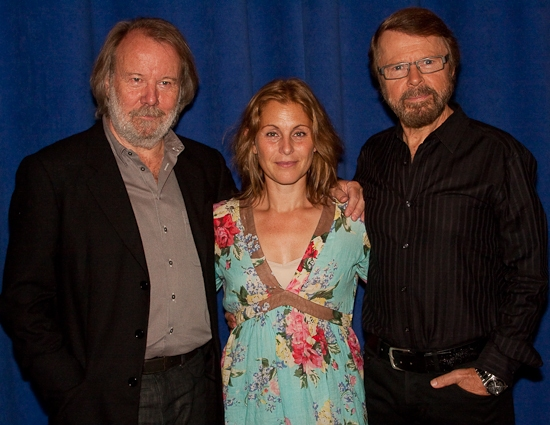 Benny Andersson, Helen Sjoholm, and Bjorn Ulvaeus at Andersson And Ulvaeus' KRISTINA Concert Cast And Creative Team Meet The Press