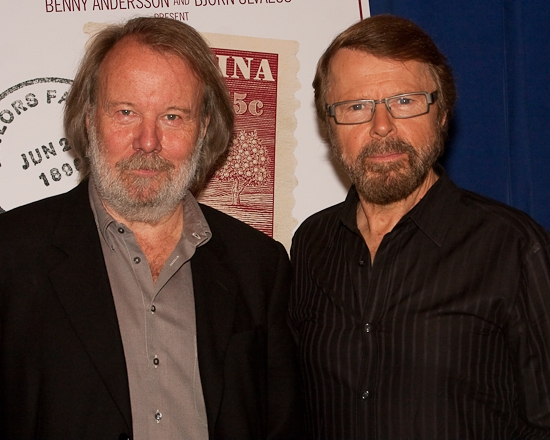 Benny Andersson and Bjorn Ulvaeus at Andersson And Ulvaeus' KRISTINA Concert Cast And Creative Team Meet The Press