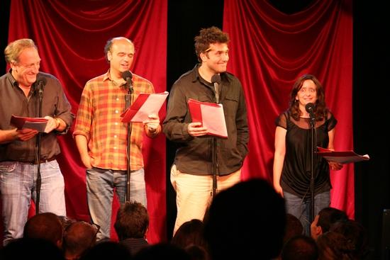 Alan Zweibel, Scott Adsit, Craig Bierko and Rachel Dratch Photo