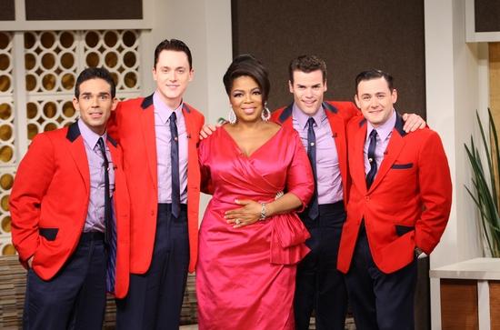 Dominic Scaglione Jr., Shonn Wiley, Oprah Winfrey, Michael Cunio and Michael Ingersol Photo