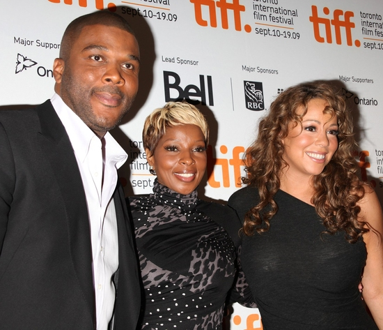 Tyler Perry, Mary J. Blige and Mariah Carey