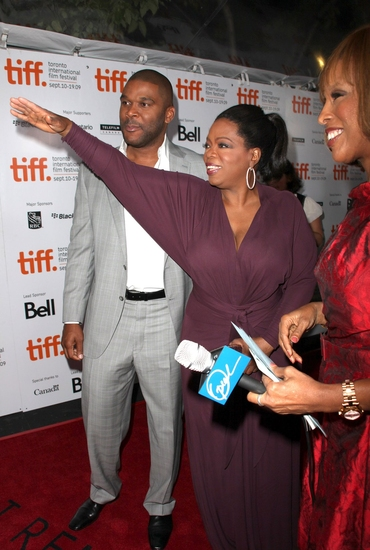 Tyler Perry, Oprah Winfrey and Gayle King at 'Precious: Based on the Novel Push by Sapphire' TIFF 2009 Red Carpet Premiere