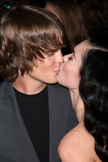 Johnny Simmons and Megan Fox