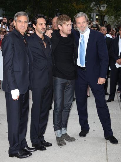 George Clooney, Grant Heslov, Ewan McGregor and Jeff Bridges