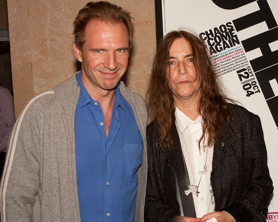 Ralph Fiennes and Patti Smith at OTHELLO At The Public Theater Celebrates Opening Night - Arrivals