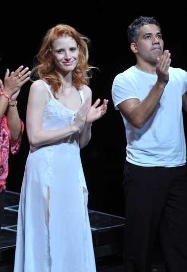 Jessica Chastain and John Ortiz