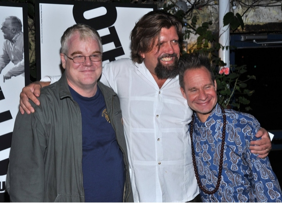 Philip Seymour Hoffman, Oskar Eustis and Peter Sellars at OTHELLO At The Public - Opening Night Party