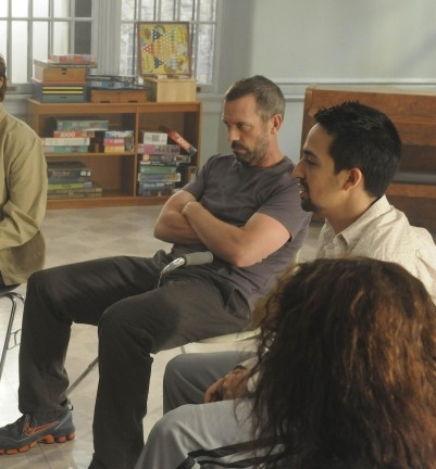 Hugh Laurie and Lin-Manuel Miranda