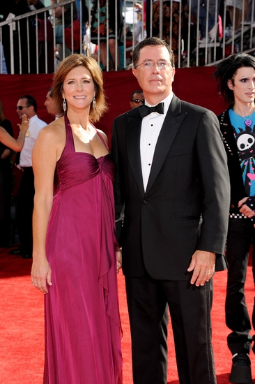Evelyn McGee and husband Stephen Colbert