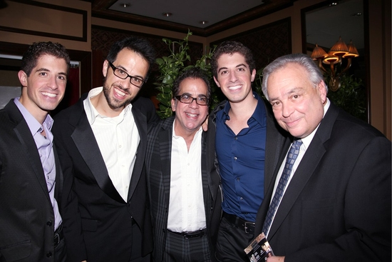 Will Nunziata, Ben Toth, Richard Jay-Alexander, Anthony Nunziata and Tony Fusco at Will and Anthony Nunziata Feinstein's at the Loews Regency Debut