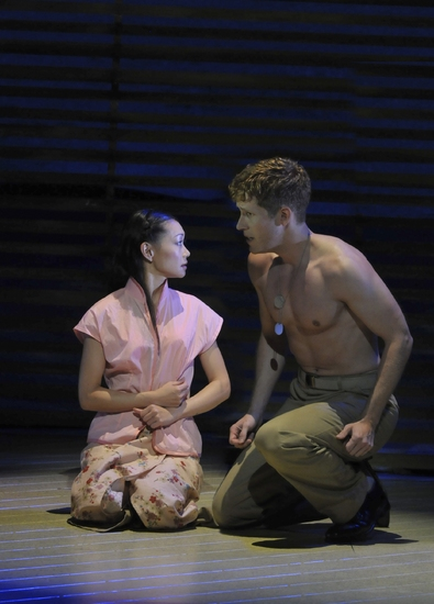 Sumie Maeda as Liat and Anderson Davis as Lt Joseph Cable Photo