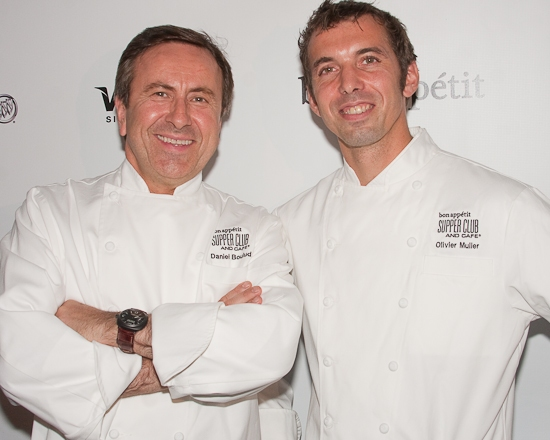 Chef Daniel Boulud and Chef Olivier Muller