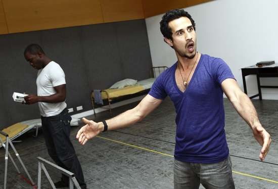 "Jimmy Akingbola & Abhin Galeya at CATEGORY B Rehearsal, Opens Tricycle's ""Not Black and White"" Season"