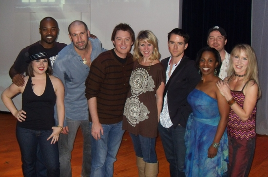 Clay Aiken joins Composer Jeremy Schonfeld, Director Lauren Kennedy, star Christian Campbell and the cast of DRIFT.