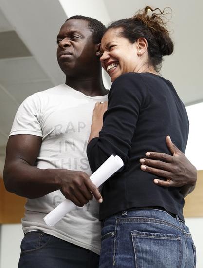 Kobna Holdbrook-Smith and Jaye Griffiths