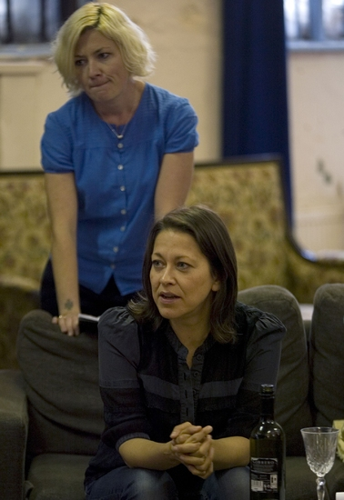 Kate Ashfield and Nicola Walker at The Almeida Theatre's Rehearsal of MRS. KLEIN