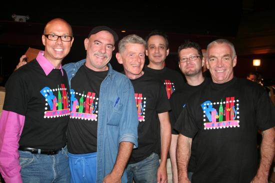 """Broadway Beat"" Richard Ridge, Bradshaw Smith, John Scoullar, Sidney Meyer, Jonathan Frank and Russell Bouthiller"
