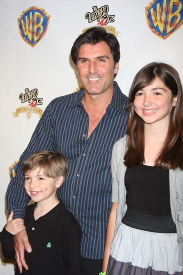 Vincent Irizarry with his kids at THE WIZARD OF OZ 70th. Ann. Emerald Gala at Tavern on the Green
