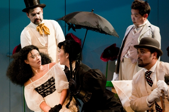 Rajesh Bose, Tiffany Villarin, Cindy Cheung, Orville Mendoza and Andrew Pang at THE SEAGULL at NAATCO