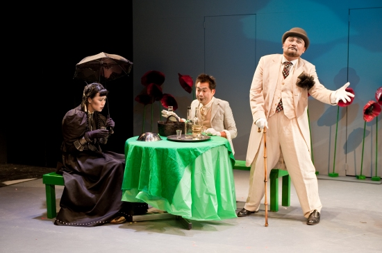 Cindy Cheung, Andrew Pang and Orville Mendoza at THE SEAGULL at NAATCO