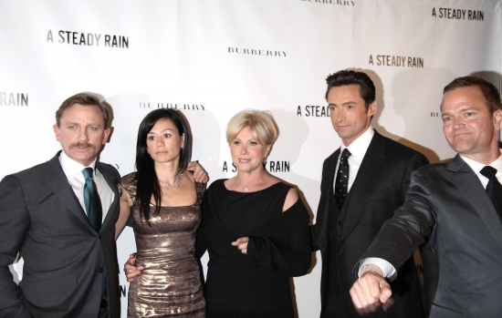 Daniel Craig, Satsuki Mitchell, Deborra-Lee Furness, Hugh Jackman and PR whiz Michael Hartman