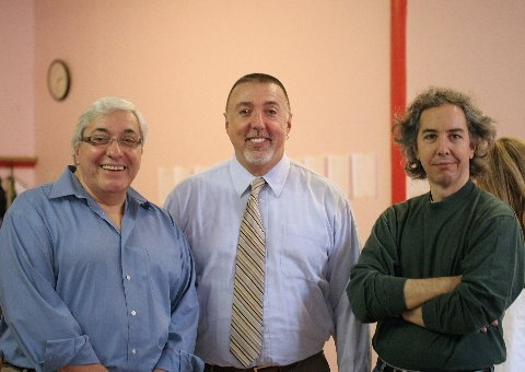 John Bonanni, Barry Harman, Grant Sturiale at NYMF's UNDER FIRE Rehearsals