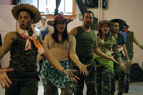 Photo Flash: NYMF's UNDER FIRE Rehearsals