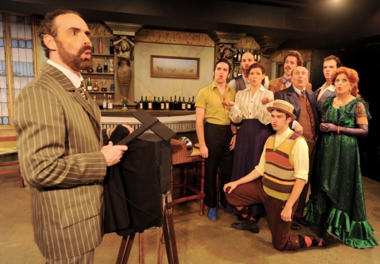 Paul Taylor and cast at PICASSO AT THE LAPIN AGILE  Ends Its Run At Circle Theatre On 10/24