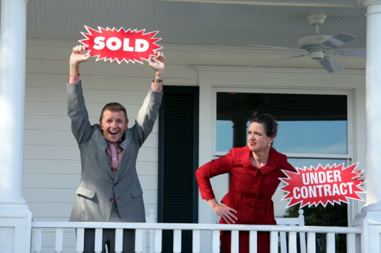 Doyle Reynolds and LaLa Cochran at Aurora Theatre Presents BUY MY HOUSE PLEASE