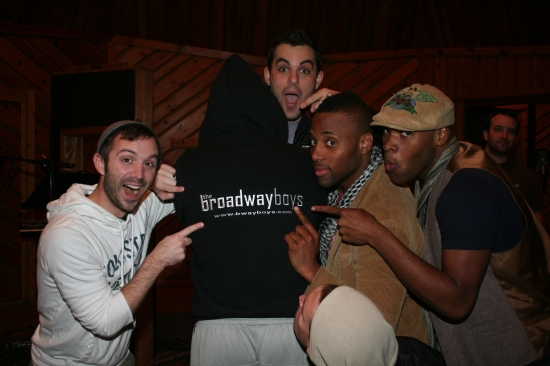 Photo Coverage: Broadway Boys CD Recording Session